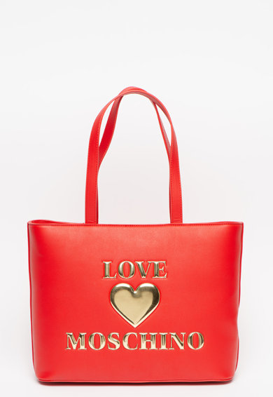 Love Moschino Geanta tote din piele ecologica cu logo Femei