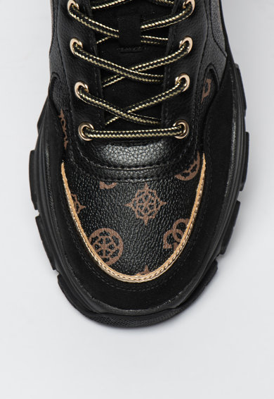 Guess Vastag talpú műbőr sneaker monogramos mintával női