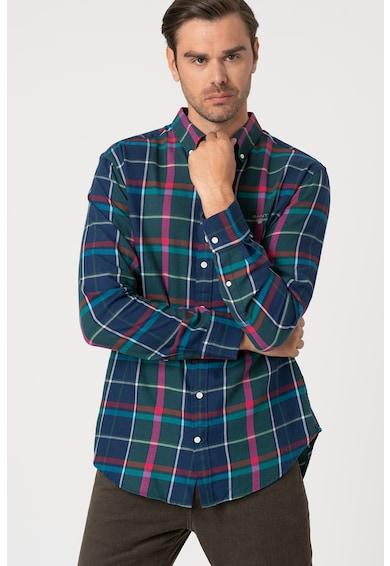 Gant Normál fazonú kockás ing hímzett részlettel férfi