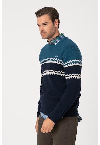 Gant Gyapjútartalmú colorblock pulóver férfi
