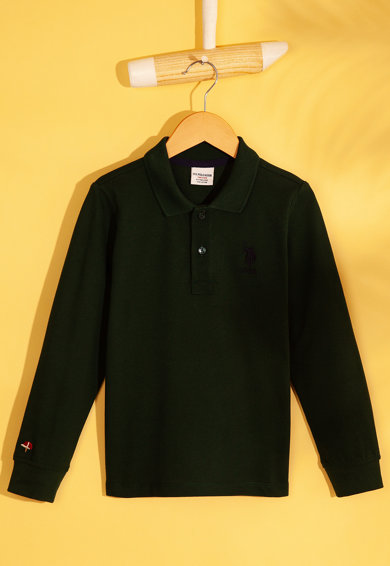 U.S. Polo Assn. Bluza polo cu aspect pique Baieti