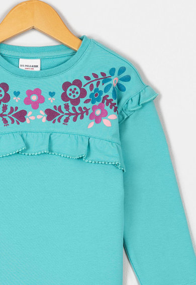 U.S. Polo Assn. Bluza sport cu model floral Fete