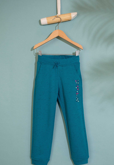 U.S. Polo Assn. Pantaloni sport cu logo brodat Fete