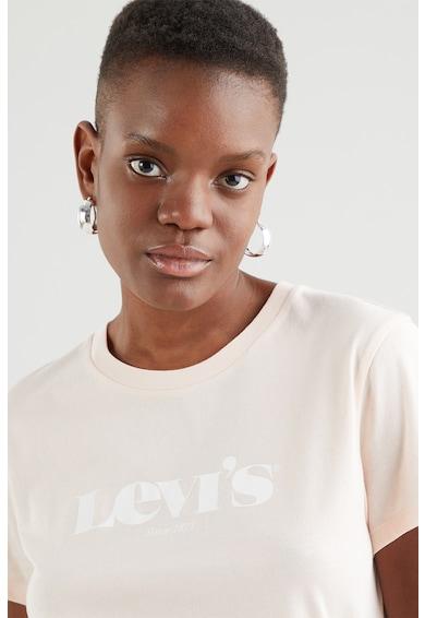Levi's Tricou de bumbac cu imprimeu logo si decolteu la baza gatului Femei
