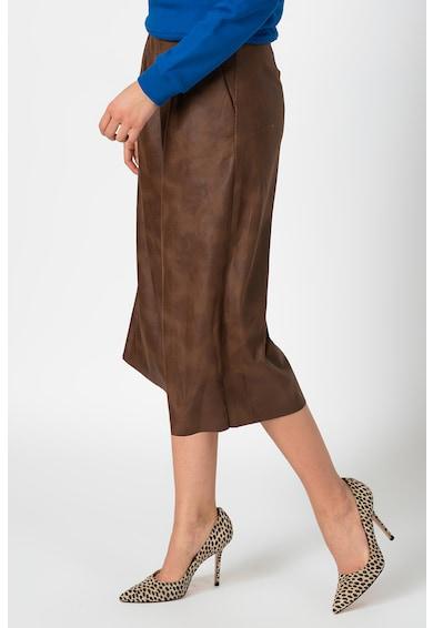 Antonia M Magas derekú műbőr culotte nadrág női