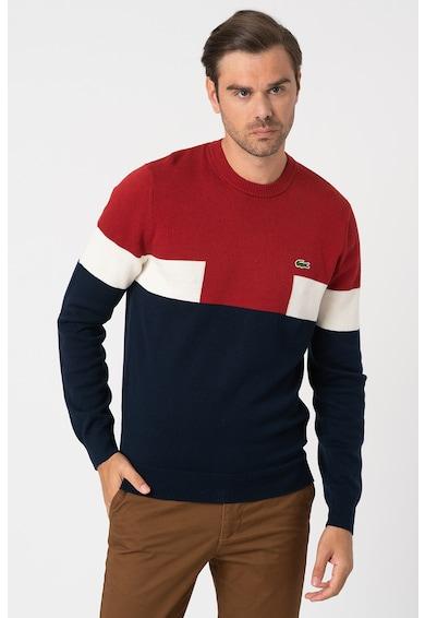 Lacoste Pulover din amestec de lana cu aspect colorblock Barbati