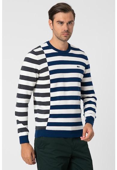Lacoste Csíkos pulóver logós részlettel férfi