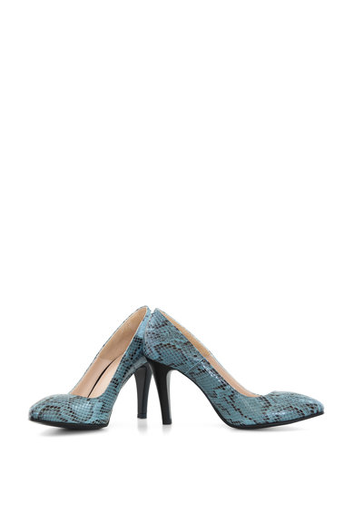 Diane Marie Pantofi din piele cu toc inalt si aspect de piele de sarpe Femei