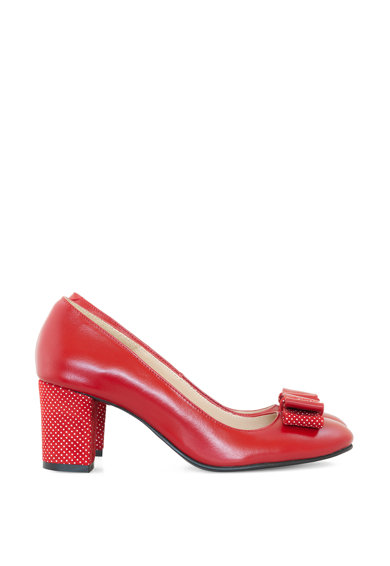 Diane Marie Olivia pöttyös és masnis bőrcipő női