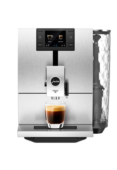 JURA Espressor automat  ENA8, 15 bari, 1.1 l, 125 gr, rasnita AromaG3, 10 specialitati One Touch, afisaj color Femei