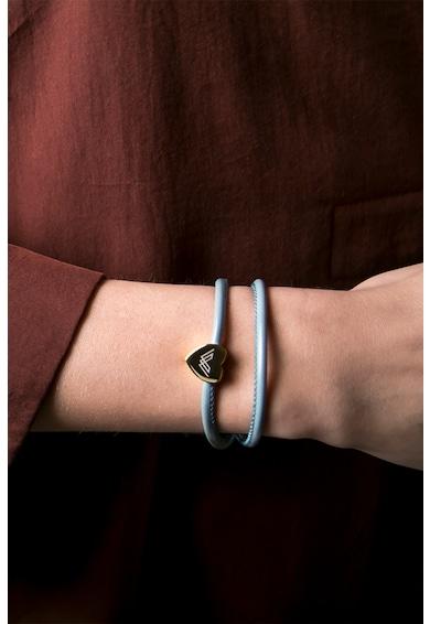 Victoria Walls Bratara de piele cu talisman in forma de inima Femei