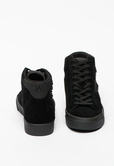 EA7 Pantofi sport high-top de piele intoarsa cu garnituri de piele ecologica Barbati