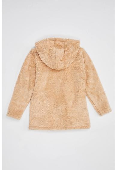 DeFacto Kapucnis plüss pulóver mellzsebbel Lány