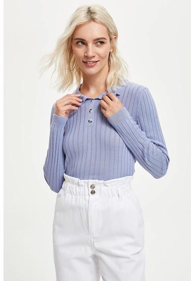 DeFacto Bordázott hatású galléros pulóver női
