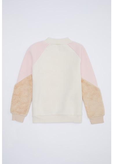 DeFacto Colorblock dizájnos pulóver bolyhos részletekkel Lány