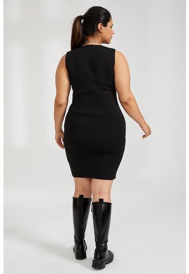 DeFacto Szűk fazonú bordázott miniruha női