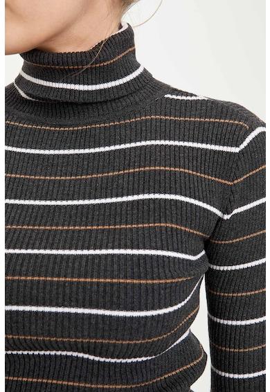 DeFacto Garbónyakú csíkos pulóver női