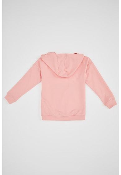 DeFacto Mintás pulóver kapucnival Lány