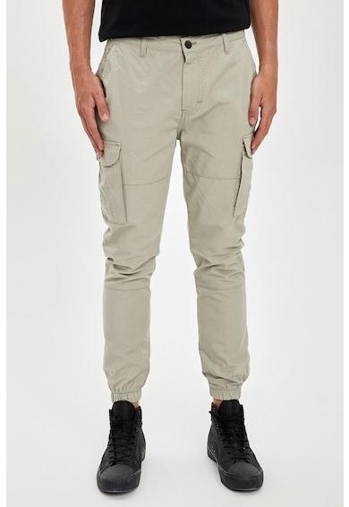 DeFacto Pantaloni cargo conici Barbati