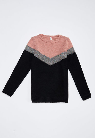DeFacto Geometrikus mintájú pulóver Lány