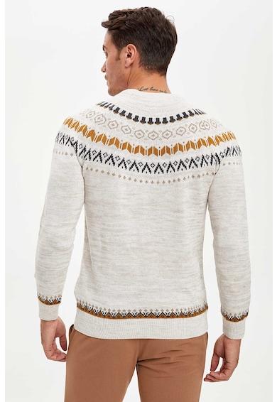 DeFacto Szűk fazonú fair isle mintás pulóver férfi