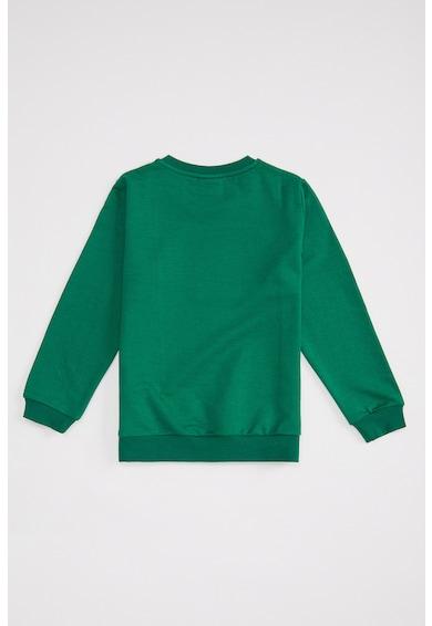 DeFacto Colorblock dizájnos pulóver feliratos mintával Fiú