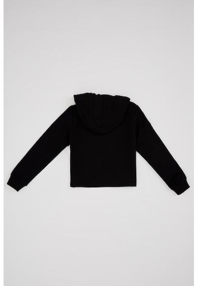 DeFacto Feliratos pulóver kapucnival Lány