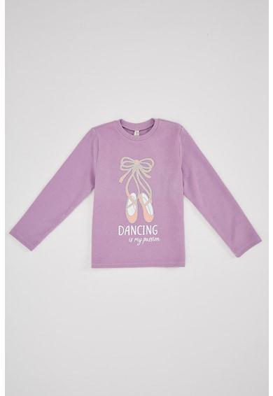 DeFacto Mintás pulóver felirattal Lány