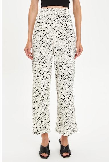 DeFacto Bő szárú nadrág magasított derékrésszel női