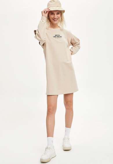 DeFacto Dzsörzé ruha feliratos mintával női