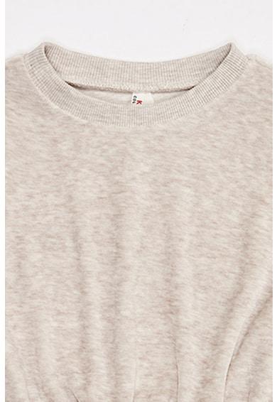 DeFacto Bluza sport crop din velur, cu decolteu la baza gatului Fete