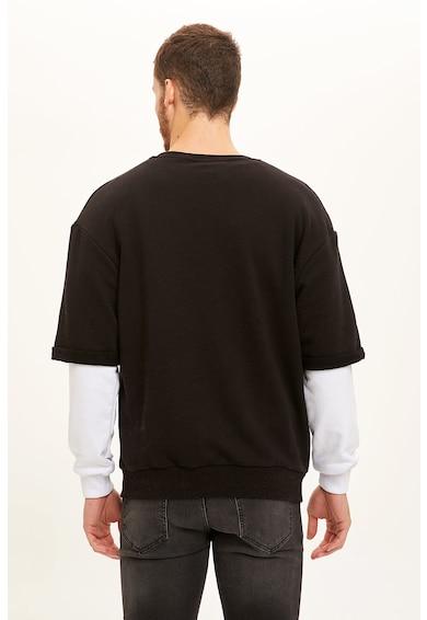 DeFacto Bő fazonú 2-in-1 dizájnú pulóver férfi