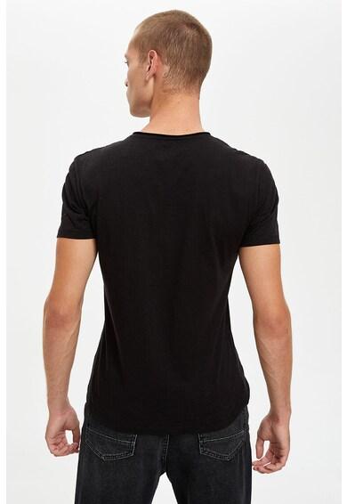 DeFacto Set de tricouri slim fit de bumbac - 2 piese Barbati