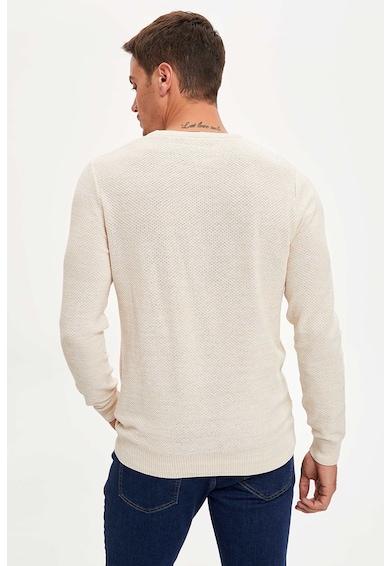 DeFacto Texturált kerek nyakú pulóver férfi