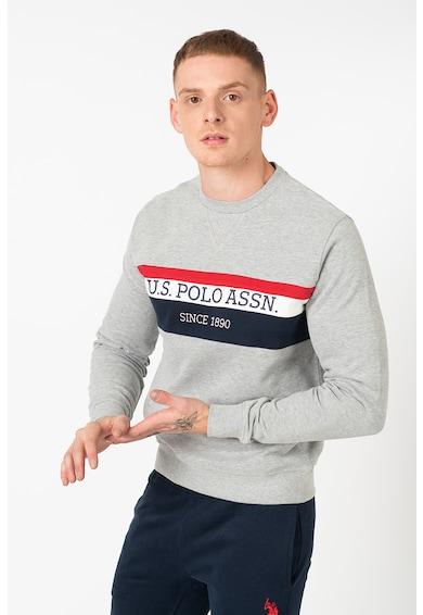 U.S. Polo Assn. USA csíkos pulóver logóval férfi