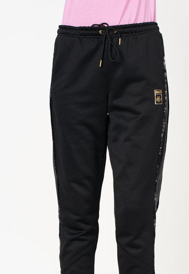 Puma Pantaloni sport catifelati cu snur in talie PUMA X CO Femei