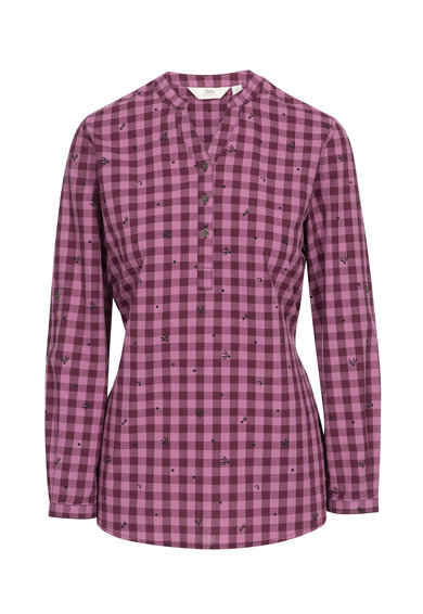 Trespass Bluza tip tunica cu model gingham Noreen Femei