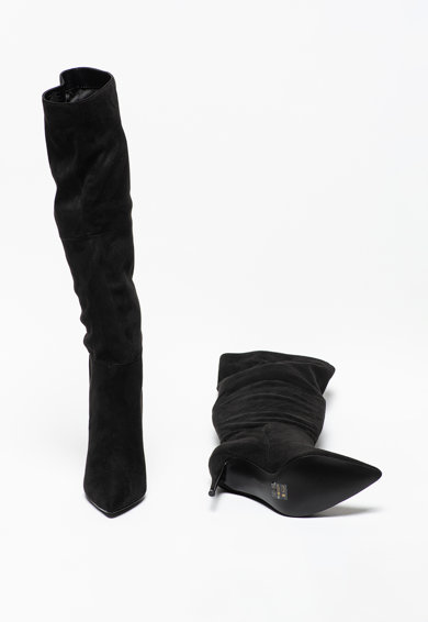 Steve Madden Cizme lungi pana la genunchi din piele intoarsa ecologica cu toc inalt Dakota Femei