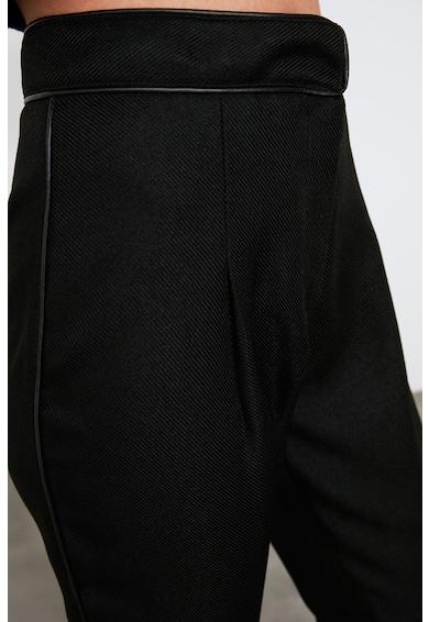 Trendyol Pantaloni din amestec de lana cu talie inalta Femei