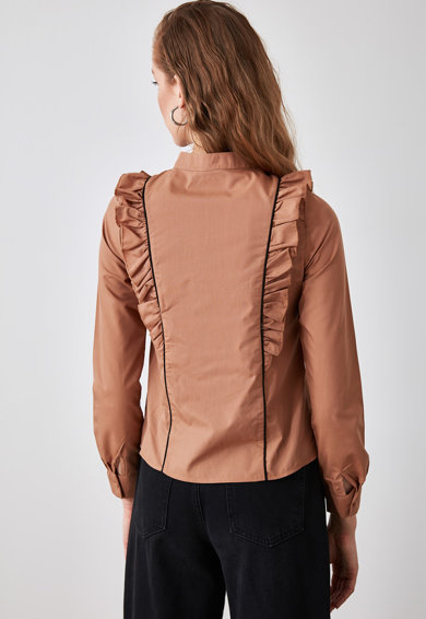 Trendyol Camasa cu garnituri cu volane Femei
