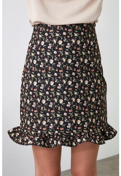Trendyol Szűkített miniszoknya virágmintával női