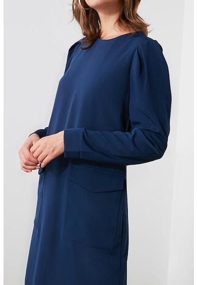 Trendyol Egyenes fazonú ruha puffos ujjakkal női