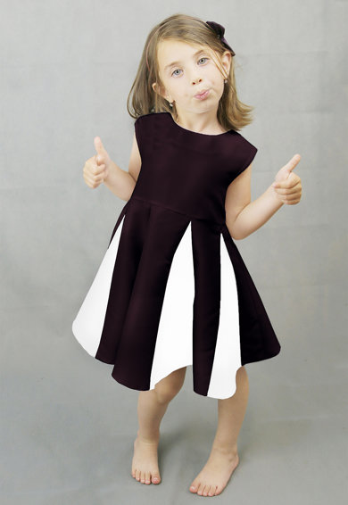 Ilona Andreoiu Tulip colorblock dizájnos pliszírozott ruha Lány