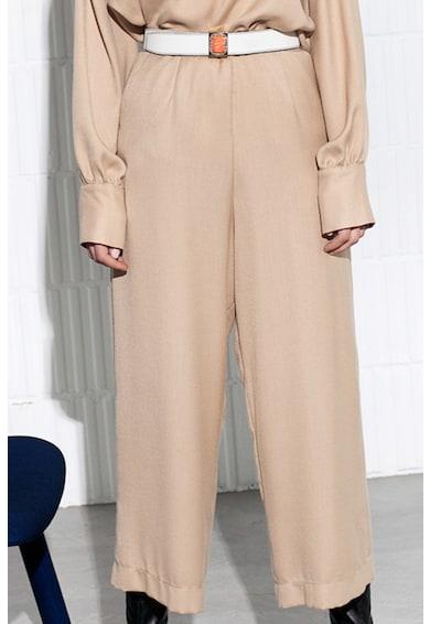 MANURÍ Pantaloni crop cu croiala ampla Paola Femei