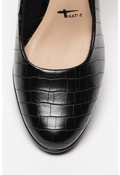 Tamaris Magas sarkú műbőr cipő női