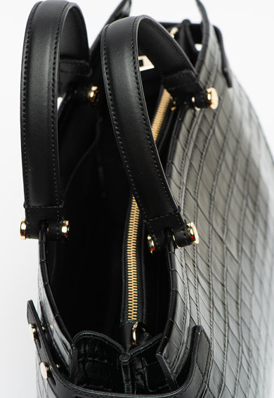 Furla Lady M bőr válltáska krokodilbőr hatású mintával női