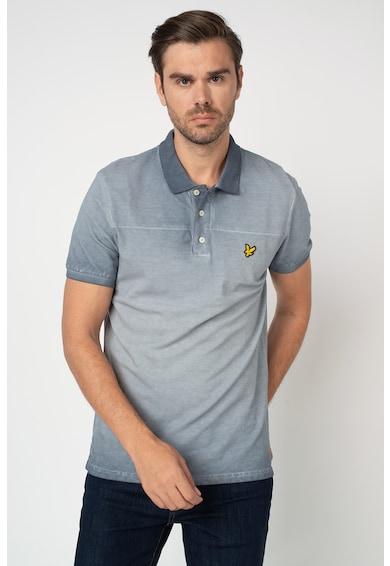 Lyle & Scott Galléros póló koptatott hatással férfi