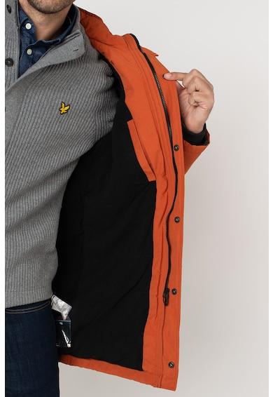 Lyle & Scott Kapucnis télikabát levehető műszőrme szegéllyel férfi