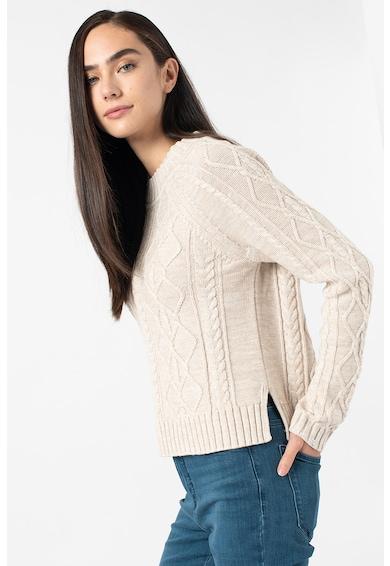 GAP Csavart kötésmintájú pulóver oldalhasítékokkal női
