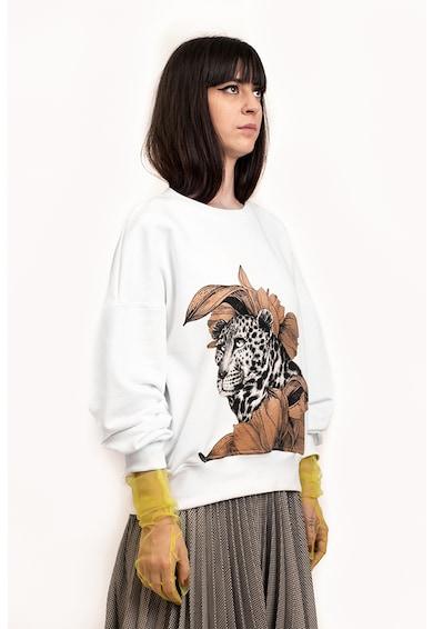 Ioana Ciolacu Bő fazonú pulóver kerek nyakrésszel női